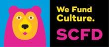 """scfd logo """"we fund culture"""""""